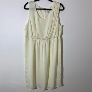 Avenue Sleeveless Plus size dress 18 Cream